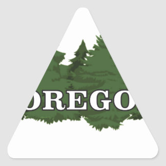 Oregon Forest Triangle Sticker