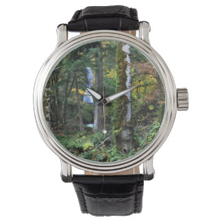 Oregon Forest Vintage Leather Watch