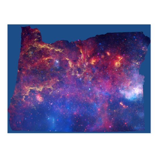 Oregon Galaxy Print Postcard