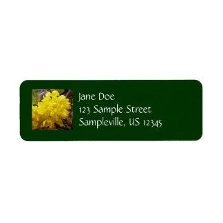 Oregon Grape Flowers Yellow Wildflowers Return Address Label