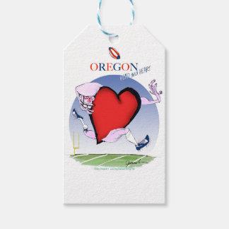 oregon head heart, tony fernandes gift tags