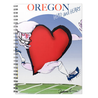 oregon head heart, tony fernandes spiral notebook