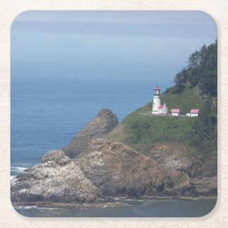 Oregon Lighthouse Square Paper Coaster