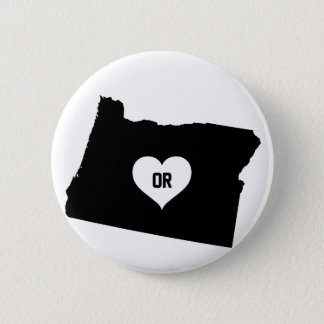 Oregon Love 2 Inch Round Button