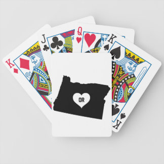 Oregon Love Bicycle Playing Cards