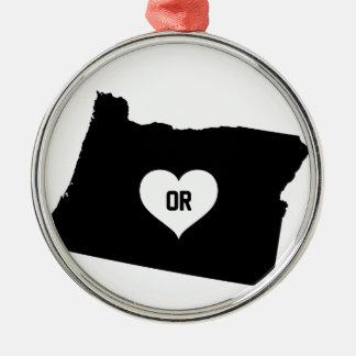 Oregon Love Metal Ornament