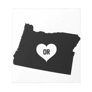 Oregon Love Notepad