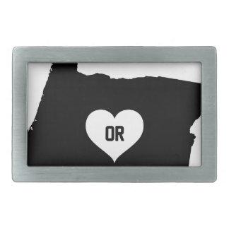 Oregon Love Rectangular Belt Buckle