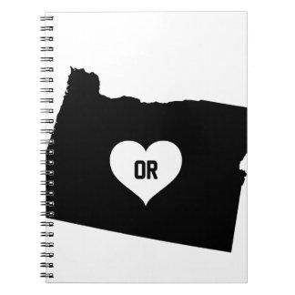 Oregon Love Spiral Notebook