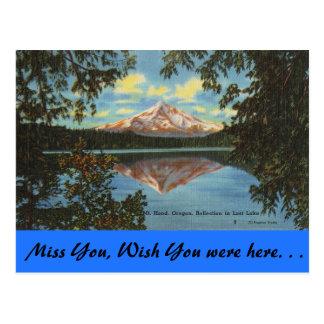 Oregon, Mt. Hood, Lost Lake Postcard