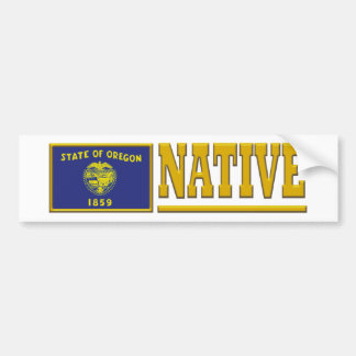 Oregon Native Bumper Sticker