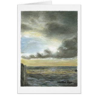 Oregon ocean sky card