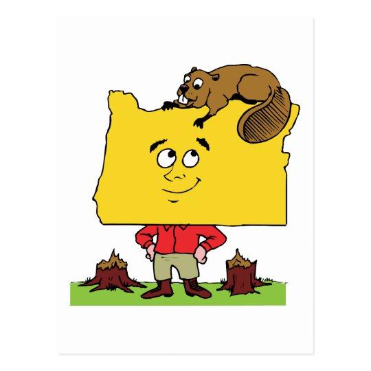 Oregon OR Oregonian Logger Lumberjack Souvenir Postcard