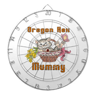 Oregon Rex Cat Mom Dartboard