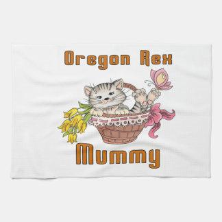 Oregon Rex Cat Mom Kitchen Towel