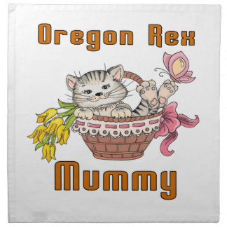 Oregon Rex Cat Mom Napkin