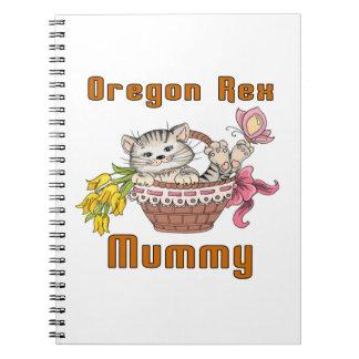 Oregon Rex Cat Mom Notebook