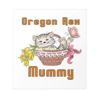 Oregon Rex Cat Mom Notepad