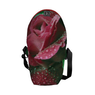 Oregon rose covered in raindrops courier bag