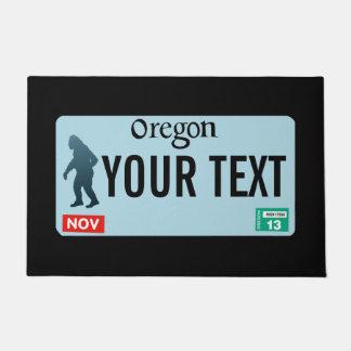 Oregon Sasquatch License Plate Doormat
