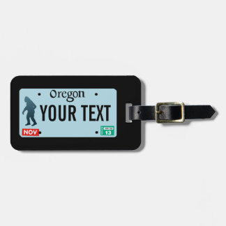 Oregon Sasquatch License Plate Luggage Tag