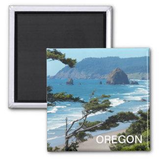 Oregon Seascape Photo Square Magnet