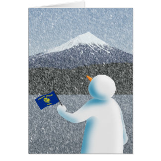 Oregon Snowman Card
