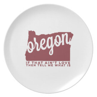 oregon | song lyrics | apple red dinner plate