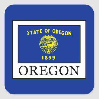 Oregon Square Sticker