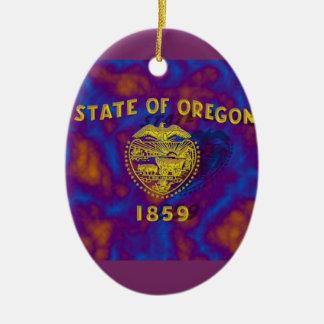 Oregon State Flag Ceramic Ornament