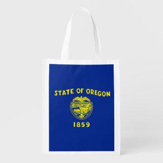 Oregon State Flag Design Reusable Grocery Bag