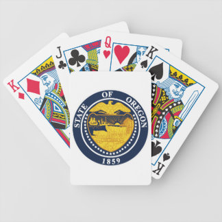Oregon State Seal Bicycle Playing Cards