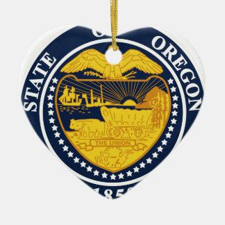 Oregon State Seal Ceramic Ornament