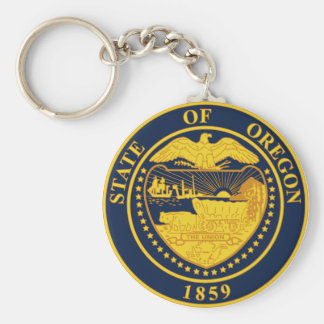 Oregon State Seal Keychain
