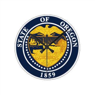 Oregon State Seal Round Clock