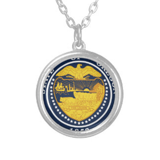 Oregon State Seal Silver Plated Necklace