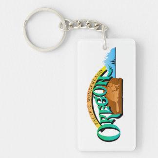 Oregon State, USA (United States of America) Salem Single-Sided Rectangular Acrylic Keychain