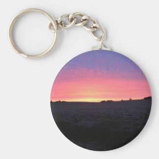 Oregon Sunrise Basic Round Button Keychain