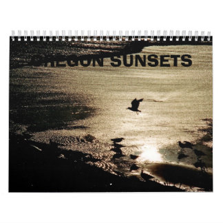 Oregon  Sunsets Wall Calendar