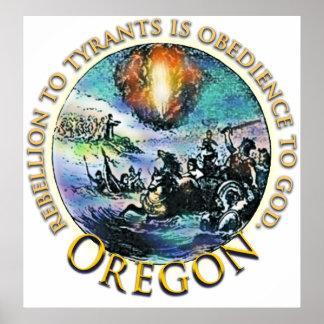 Oregon Tea Party Poster