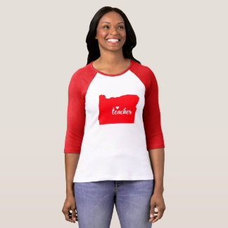 Oregon Teacher Tshirt (Red)