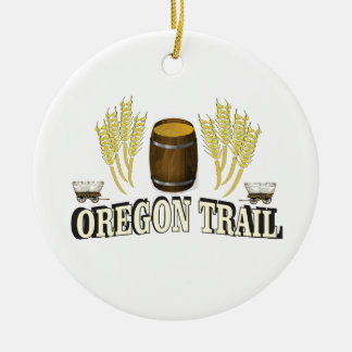 oregon trail blessing ceramic ornament