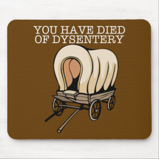Oregon Trail Funny Wagon Mouse Pad