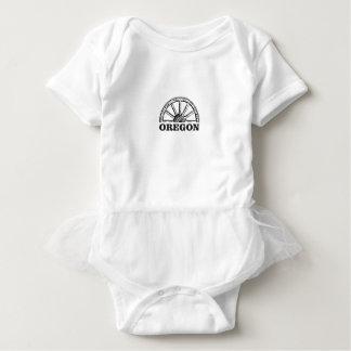oregon trail simple wheel baby bodysuit