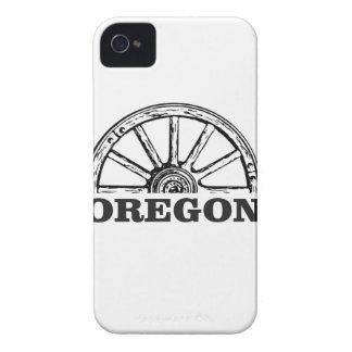 oregon trail simple wheel iPhone 4 Case-Mate case