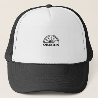 oregon trail simple wheel trucker hat
