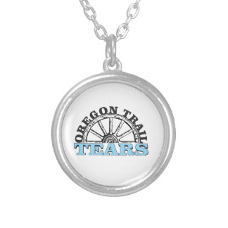 oregon trail tears silver plated necklace