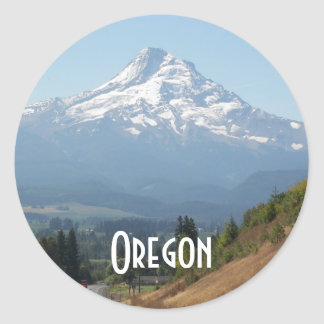 Oregon Travel Photo Classic Round Sticker