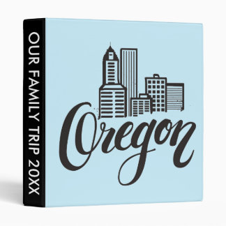 Oregon Typography Design 3 Ring Binder