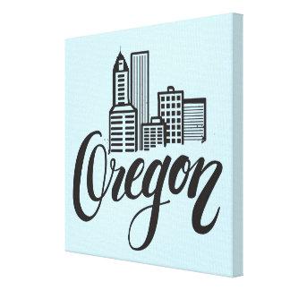Oregon Typography Design Canvas Print
